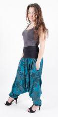 Kalhoty turecké ALIBABA, ruční potisk  Nepál
