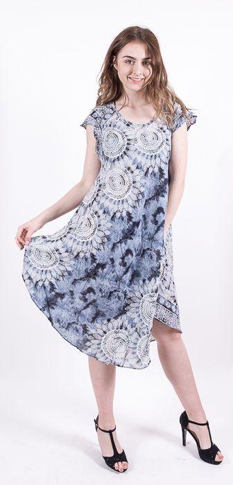 Ležérní dámské letní šaty HIBISCUS TT0112-01-014