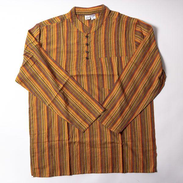 Pánská košile s dlouhým rukávem Nepál NT0009 03 003 KENAVI
