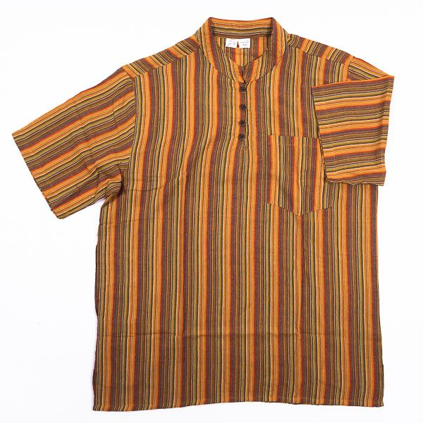 Pánská košile s krátkým rukávem Nepál NT0009 02 007 KENAVI