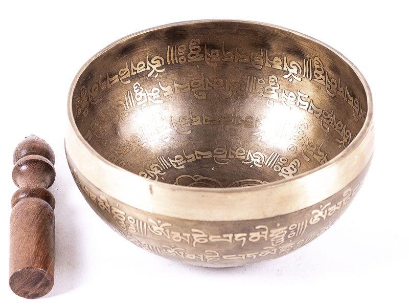 Tibetská zpívající miska prům. 17 cm s paličkou, Nepál ND0012 032