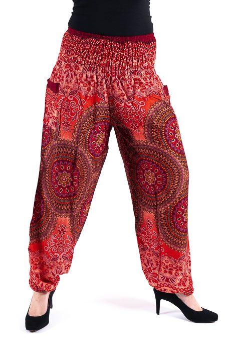 Turecké kalhoty sultánky FLOW viskóza Thajsko TT0043-01-027