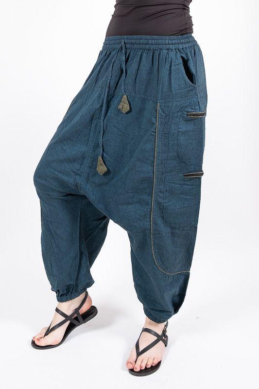 UNISEX turecké kalhoty RAMA z Nepálu z lehčího materiálu NT0053 28B 005 KENAVI
