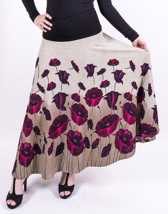 Dámská dlouhá sukně LOLA z teplejšího materiálu TT0100 01 073