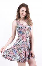 Dámské letní šaty z pružného materiálu  TT0024-0-169