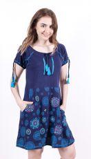 Dámské šaty / šatová tunika z Nepálu MANDALA POCKET EMBRO  NT0048-83B-001