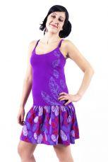 Dámské šaty z Nepálu FEATHER, 100% bavlna NT0048 90 001 KENAVI