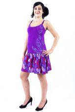 Dámské šaty z Nepálu FEATHER, 100% bavlna  NT0048-90-001