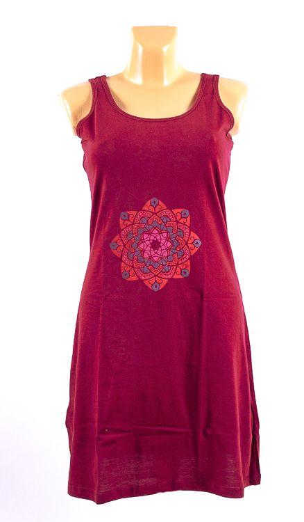 Dámské šaty z Nepálu MANDALKA 1, 100% bavlna NT0048 94 002 KENAVI