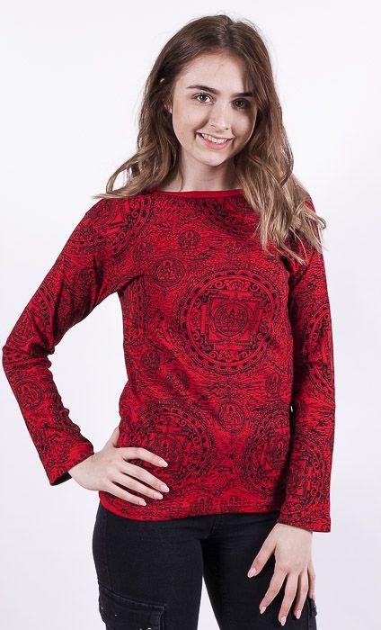 Dámské tričko PRINTY, ruční potisk Nepál NT0100 03 044 KENAVI