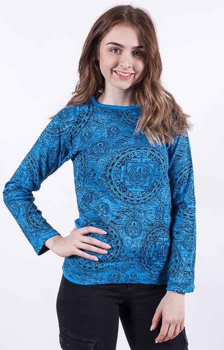 Dámské tričko PRINTY, ruční potisk Nepál NT0100 03 043 KENAVI