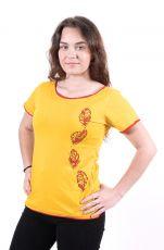 4kopie Dámské tričko 100% bavlna, ruční tisk Nepál  NT0100-43-004