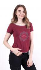Dámské tričko 100% bavlna, ruční tisk Nepál  NT0100-43-001