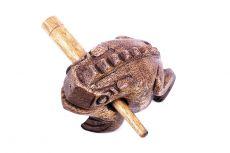 Dřevěná žába 10 cm - hudební hračka TD0051-001