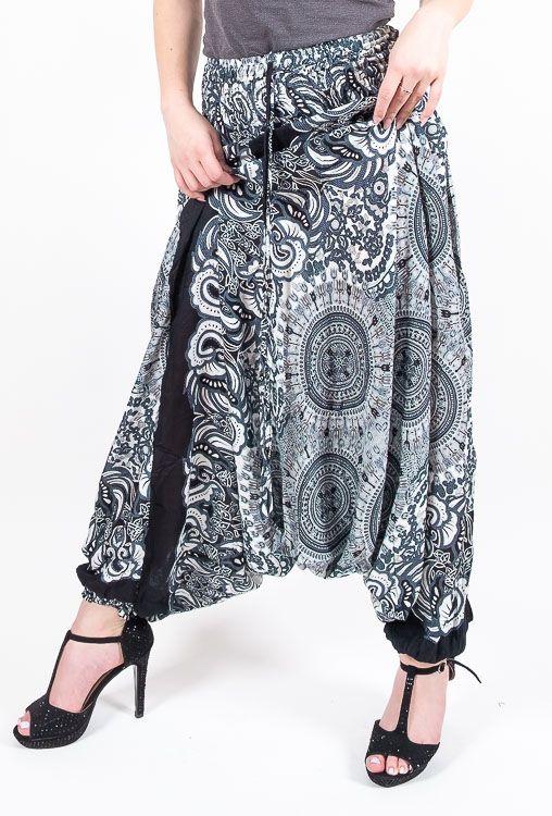 Kalhoty turecké harémky ORIGIN viskóza Thajsko TT0043 180