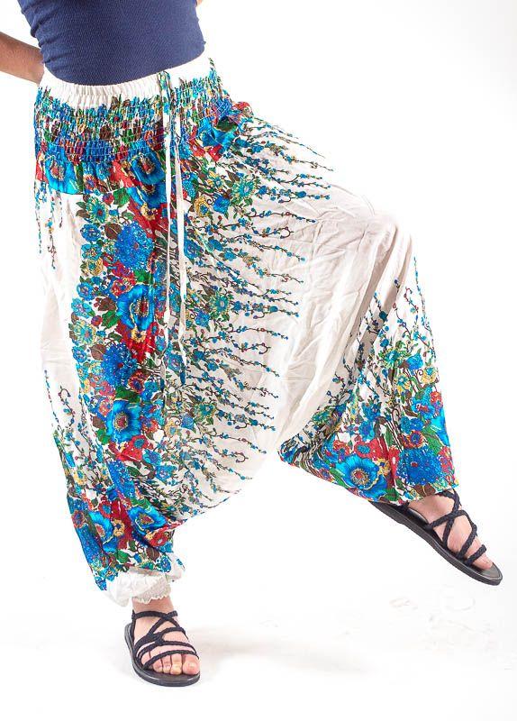 Kalhoty turecké harémky ORIGIN viskóza Thajsko TT0043 167