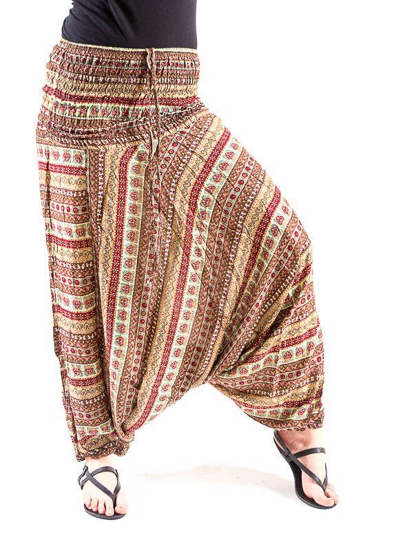 Kalhoty turecké harémky ORIGIN viskóza Thajsko TT0043 170