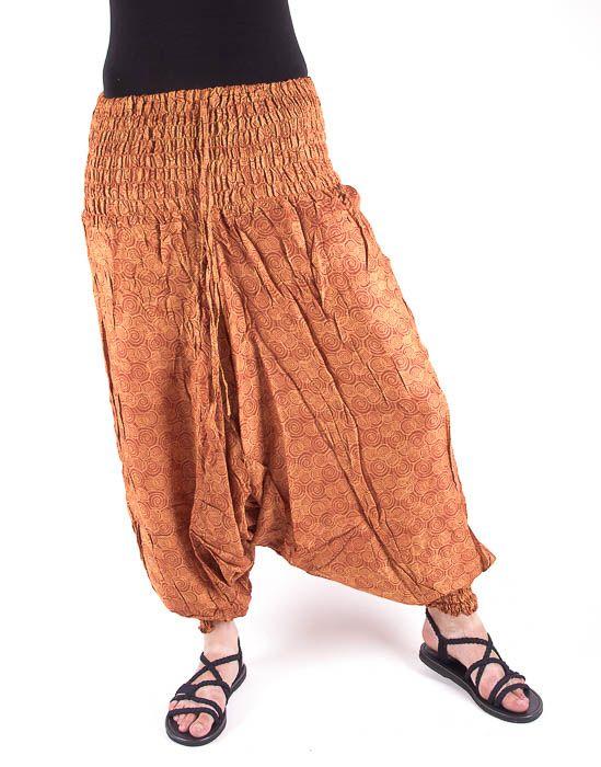 Kalhoty turecké harémové ORIGIN (BLEACH PRINT) TT0043 187