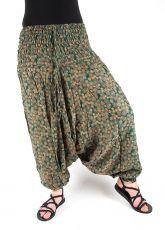 Kalhoty turecké harémové ORIGIN (BLEACH PRINT)  (188)