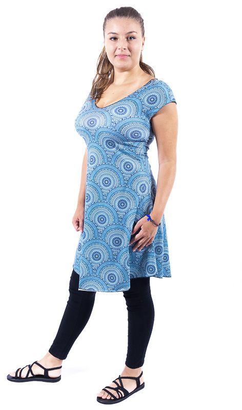 Letní šaty - tunika z pružného materiálu TT0024 05 013
