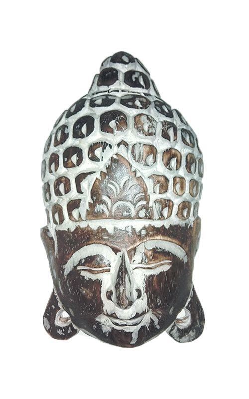 Maska Buddha - nástěnná bytová dekorace, dřevořezba Indonésie ID1605807-C