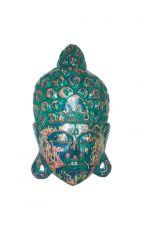 Maska Buddha - nástěnná bytová dekorace, dřevořezba Indonésie