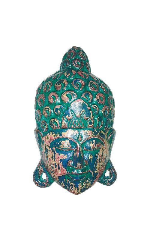 Maska Buddha - nástěnná bytová dekorace, dřevořezba Indonésie ID1605807-A