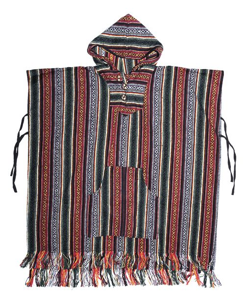 Pánské bavlněné pončo MEXICO 1 z Nepálu (001) NT0205 01 002 KENAVI
