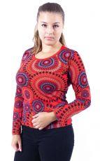 Tričko MULTICOLOUR, 100% bavlna, ruční tisk Nepál (003)
