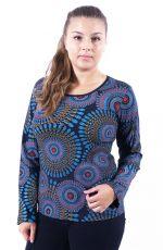 Tričko MULTICOLOUR, 100% bavlna, ruční tisk Nepál (004)