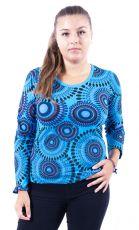 Tričko MULTICOLOUR, 100% bavlna, ruční tisk Nepál (002)
