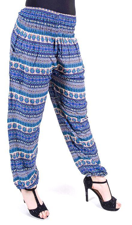 Turecké kalhoty sultánky FLOW viskóza Thajsko TT0043-01-033