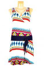 Dámské letní šaty z pružného materiálu  TT0024-0-202