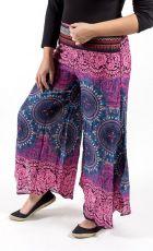 Kalhoty letní široké a otevřené zavinovací