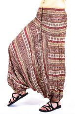 Kalhoty turecké harémové ORIGIN viskóza Thajsko TT0043-214
