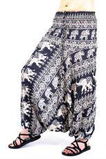 Kalhoty turecké harémové ORIGIN viskóza Thajsko TT0043-212