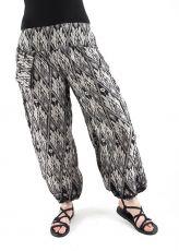 Kalhoty turecké harémové ORIGIN (BLEACH PRINT)  TT0043-202