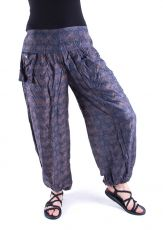 Kalhoty turecké harémové ORIGIN (BLEACH PRINT)  TT0043-203