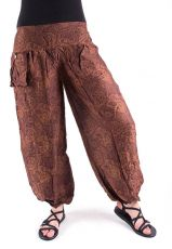 Kalhoty turecké harémové ORIGIN (BLEACH PRINT)  TT0043-205