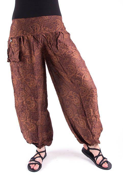 Kalhoty turecké harémové ORIGIN (BLEACH PRINT) TT0043 205