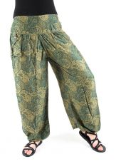 Kalhoty turecké harémové ORIGIN (BLEACH PRINT)  TT0043-206