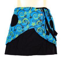 Krátká sukně ZARA, bavlna, ruční potisk, Nepál  NT0056-00-004
