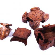 Magická krabička - malá šperkovnice ŽÁBA - ruční výroba Indonésie ID1601309