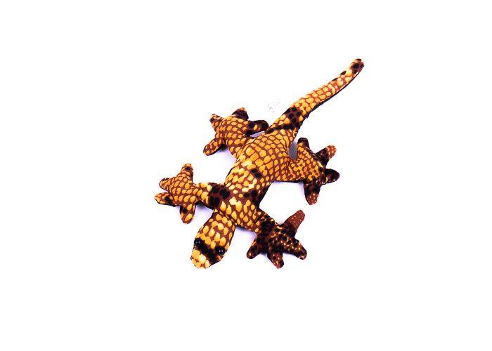 Pískové zvířátko textilní ještěrka handmade TD0001 005
