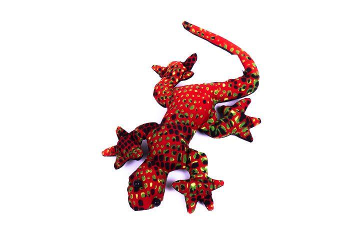 Pískové zvířátko textilní ještěrka handmade TD0002 005