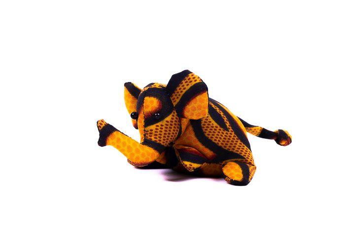 Pískové zvířátko textilní slon handmade TD0001 011
