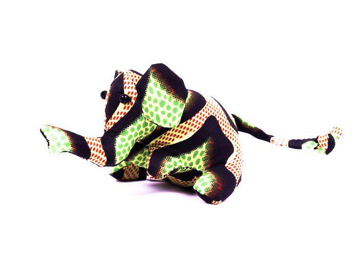 Pískové zvířátko textilní slon handmade TD0001 012