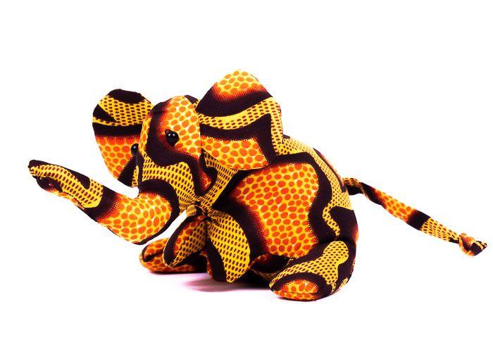 Pískové zvířátko textilní slon handmade TD0003 021
