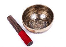 Tibetská zpívající miska prům. 13,5 cm s paličkou, Nepál  ND0009-095
