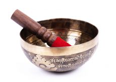Tibetská zpívající miska prům. 16,3 cm s paličkou, Nepál  ND0012-034